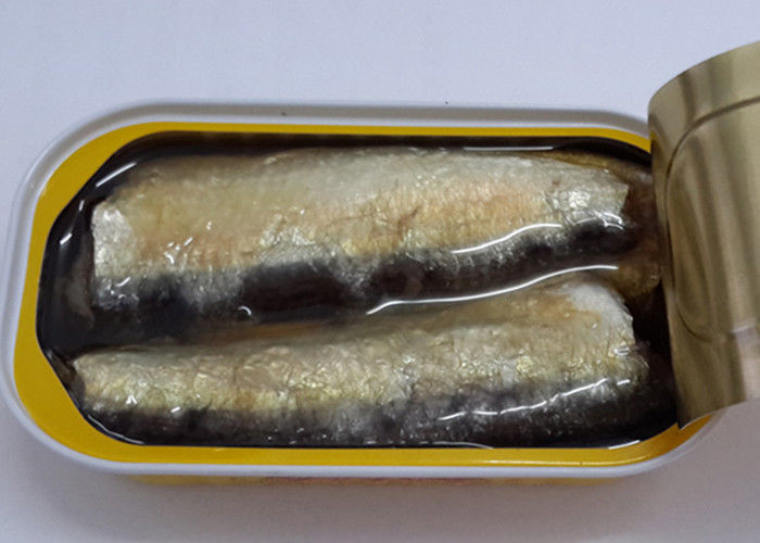 125G Canned Sardines In Vegetable Oil Canned Fish For Supermarkets