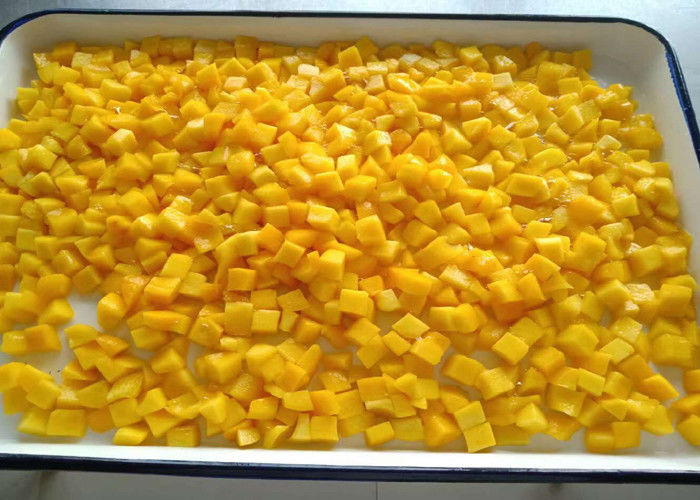 BRC 100% Natural Fresh Canned/ Tinned Fruits Yellow Peach Dices